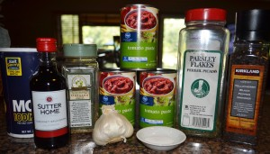 Ingredients for Mike's marinara