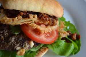 Bourbon Bacon Jam Blue Cheese Burger