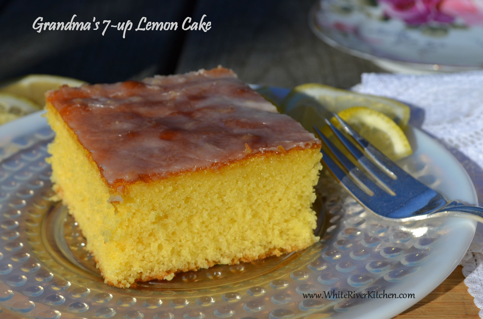 Grandma's 7-up Lemon Cake