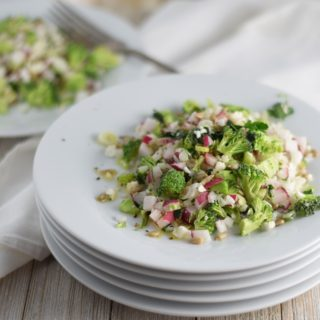 Pearled Cauliflower, Broccoli & Radish Salad