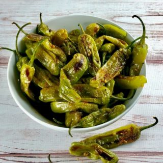 Roasted Shishito Peppers with Citrus Soy & Togarashi
